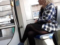 Candid girl tram