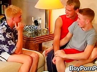 young men cumshot fucking threesome Hardcore before