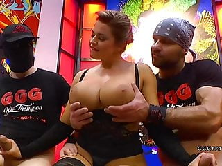 Busty whore chloe la moure displays  using and cums