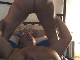 Horny milf pissing guy in face he drinks...