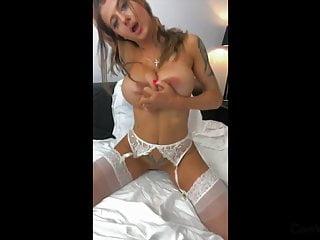 Busty Tattooed Euro Babe Dildos herself to Orgasm