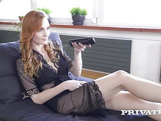 Blonde Small Tits Threesome video: Private.com Red Belle Claire DPd By 1 White & 1 Black Cock!