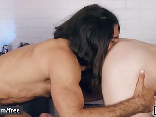 Long Haired Stud Diego Sans Gives A Proper Grooming With
