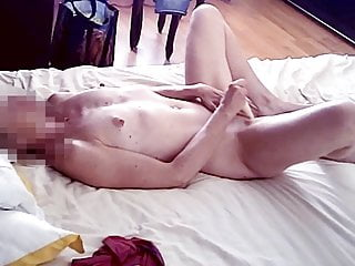 horny girl amuses herself with vibrator and has huge orgasm