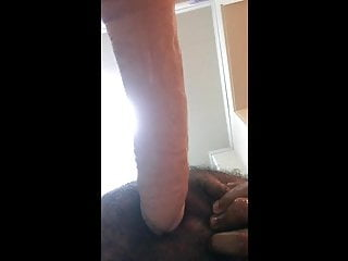 Chubby takes GIANT cock