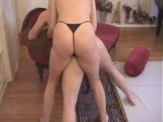 Brunette in boy shorts fucked