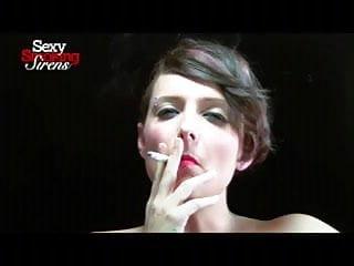 Smoking Fetish - Amazing Brunette Smokes a Thick Cigar