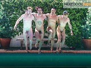 Hottest Amateur Summer Foursome – NextDoorHomemade