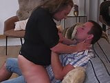 Granny and mother pleasing boys