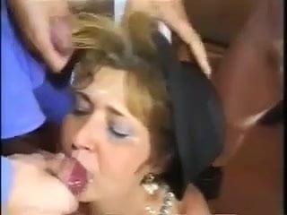Granny bukkake MATURE BUKKAKE