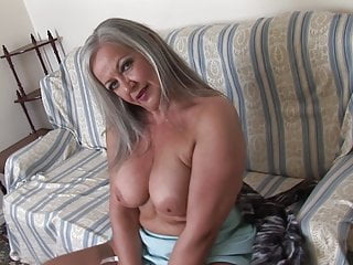 Busty mature babe april upskirt and striptease show...