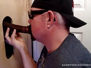 Hung married black guy gloryhole fucks my ass...