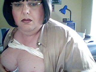 Sue on webcam
