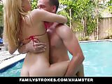 FamilyStrokes - Cute Teen Blonde Teases Cousin & Uncle