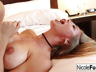 Nicole Aniston's pussy devours Derrick's cock and jizz!