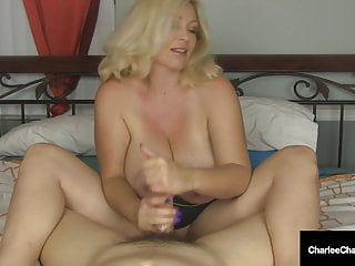 Busty mommy charlee chase wacks cock off...