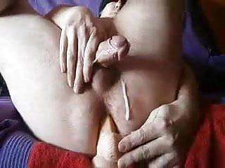 Anal prostate cumshot homemade video...