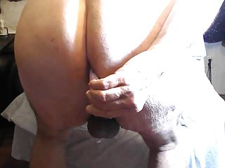 Ass taking a vibrator fucking...