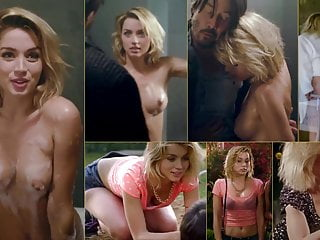 Ana de Armas nude tits and ass split-screen compilation