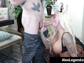 French Shaft Alex Legend Mouth Smashes Busty Babe Lolly Ink!