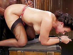 Penny with her black master in FF-Nylons