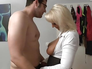 In need of sex Horny mommy bangs virgin Boy