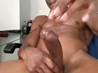 Black muscle jerk off session cam