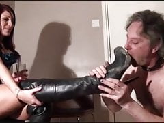 Muddy boots cleaning slave