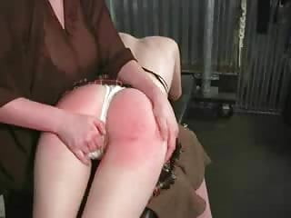 Female to young girl otk spanking red bottom lots of tears