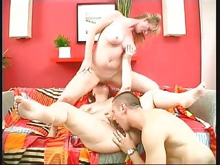 Fat redhead and busted blond moms screwed by...