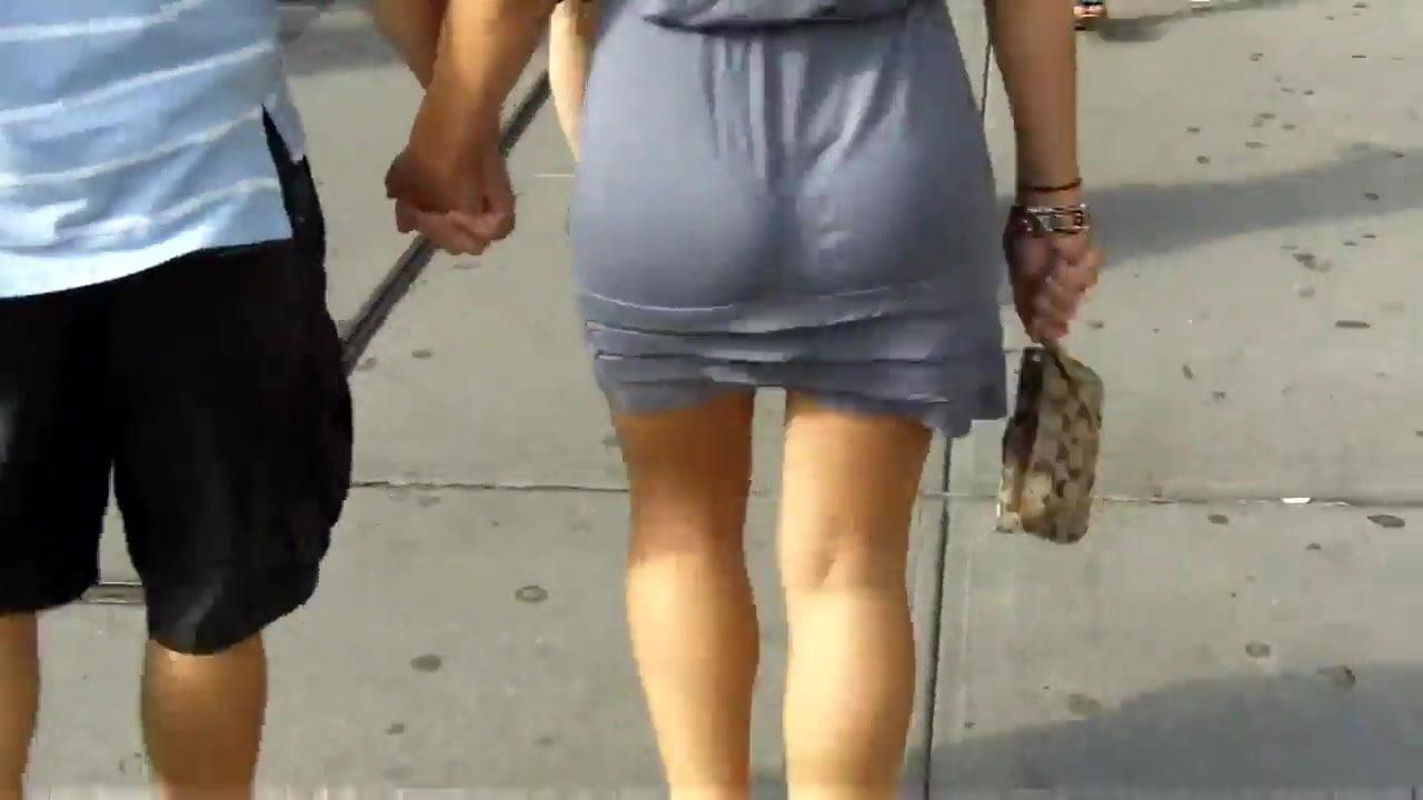 Mini Skirt White Panties