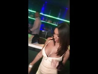 Cleavage Season #261 – braless big tits brunette at party