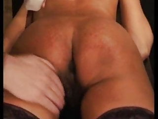 Nettles spanking for sweet ebony girl