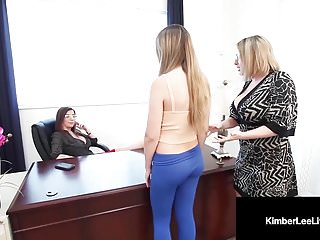 Whorish Scholar Kimber Lee Punished Through Major Jay & Instructor