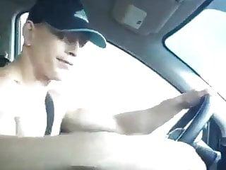 Lad wankin in car
