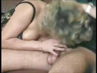 German MILF in stockings fucks husband while being looked at