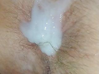 Lady J loves hot cum on her ass