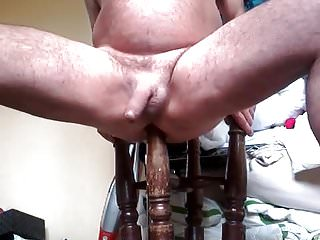 Bar stool leg used as butt plug up...