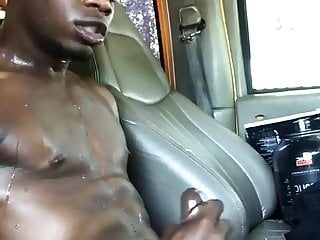 Jerking off in car...