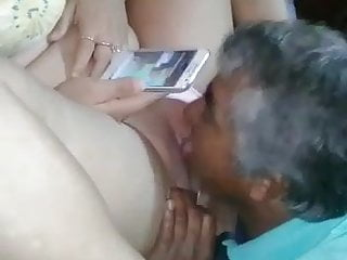 her guy Mexican stripper old licked got pussy by