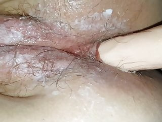 I fuck my girlfriend with dildo in her...