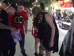 Girls sell panties in public for $100