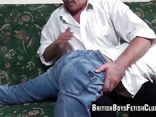 Ricky spanked in jeans...