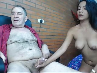 Blowjob,Brunette,Cunnilingus,Dad,Defloration,Double Penetration,Girl,Grandpa,Old Young,Teen