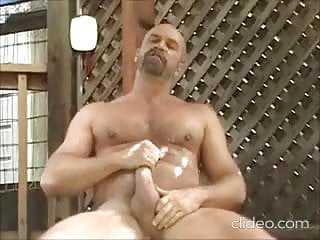 Hairy daddy Jakes knows how to relax   DILF