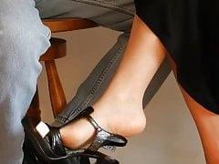 Dangling Her High Heel