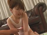 Guys line up for an asian girls blowjob from Miku