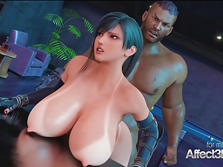 Big tits bartender blacked in a 3d animation...