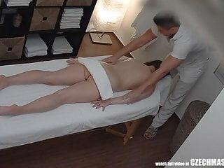 Brunette czech girls massage room...