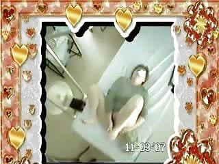 My mom masturbating in medical cabinet of daddy. Hidden cam